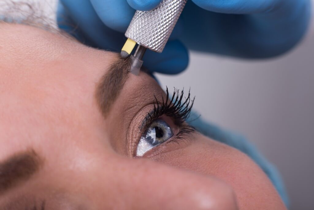 Micoblading is a semi[permanent treatment for fuller eyebrows,