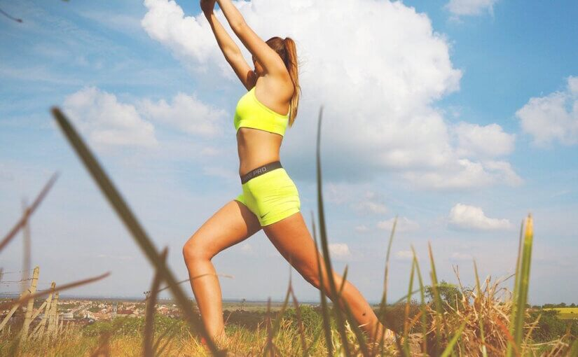 woman preventing varicose veins with exercise