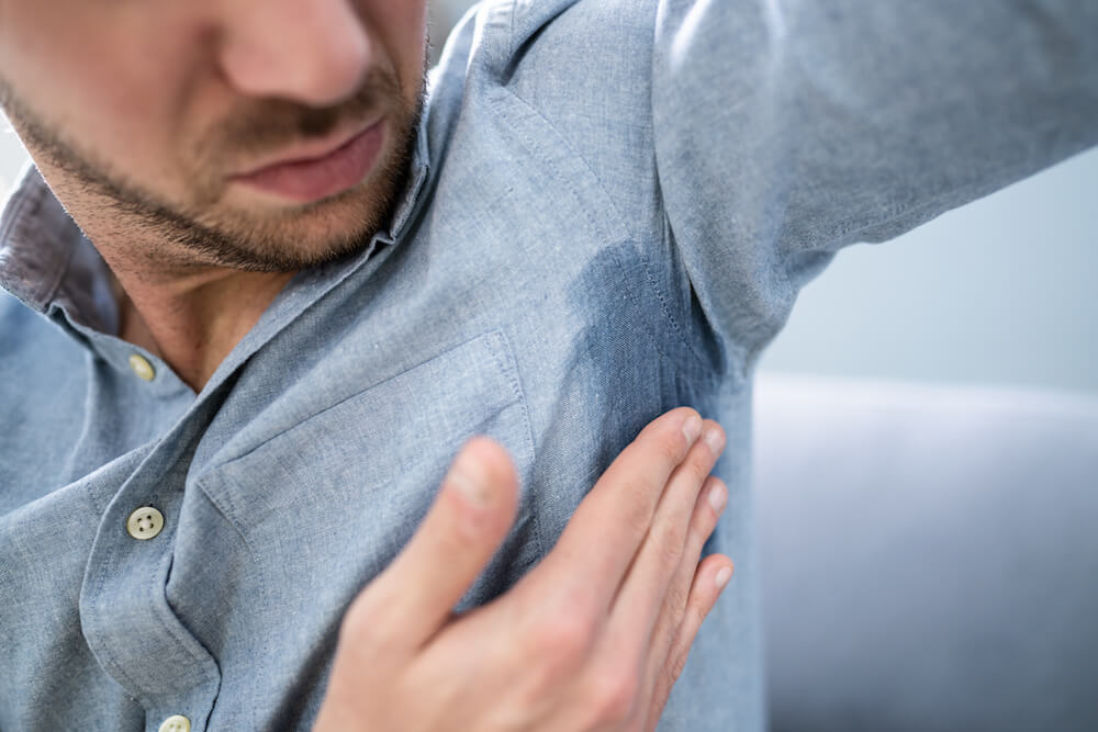 Man With Hyperhidrosis Sweating Very Badly Under Armpit Going to Get MiraDry